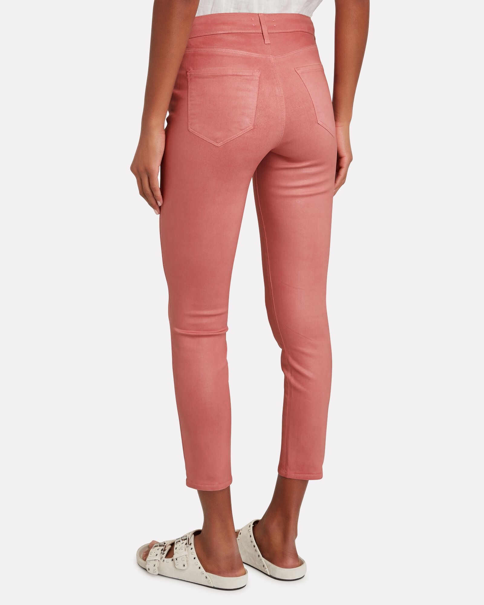 Margot Coated Skinny Jeans, DUSTY ROSE, hi-res