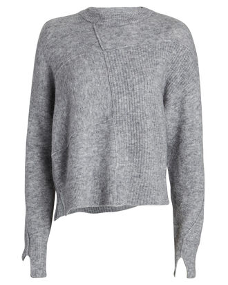 Lofty Basket Weave Sweater, GREY, hi-res