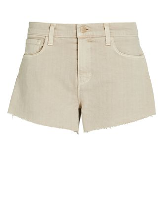 Audrey Cut-Off Denim Shorts, BISCUIT, hi-res