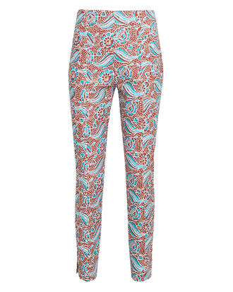 Honolulu Skinny Cropped Pants, RED FLORAL, hi-res