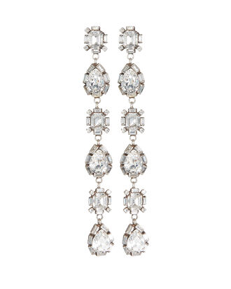 Jodes Drop Crystal Earrings, CLEAR, hi-res