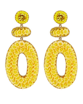 Deepa by Deepa Gurnani Brodie Beaded Earrings, YELLOW, hi-res