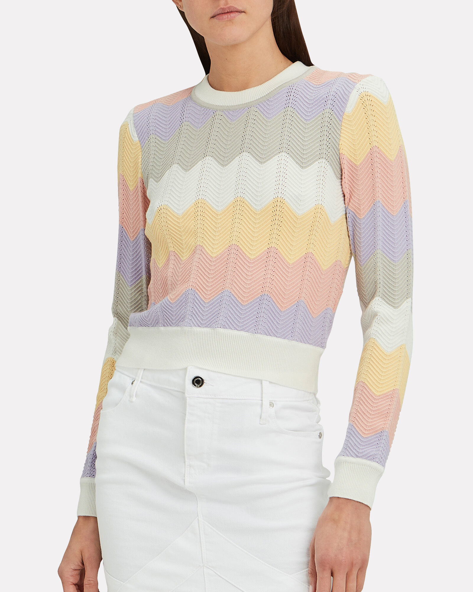 Jada Knit Chevron Sweater, MULTI, hi-res