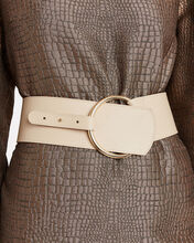Corset Leather Waist Belt, BEIGE, hi-res
