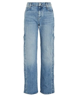 Michael Snap Straight-Leg Jeans, NATURAL BLUE, hi-res