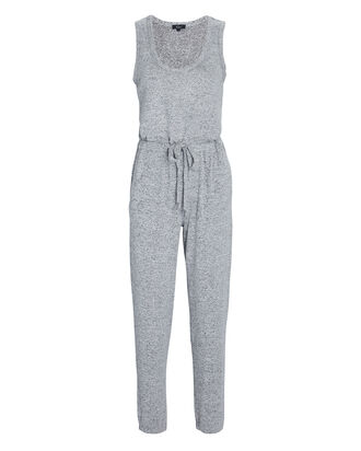 Becky Sleeveless Lounge Jumpsuit, GREY, hi-res