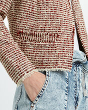 Riona Tweed Knit Jacket, RED/WHITE, hi-res