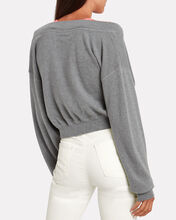 Bi-Layer Off Shoulder Sweater, GREY/PINK, hi-res