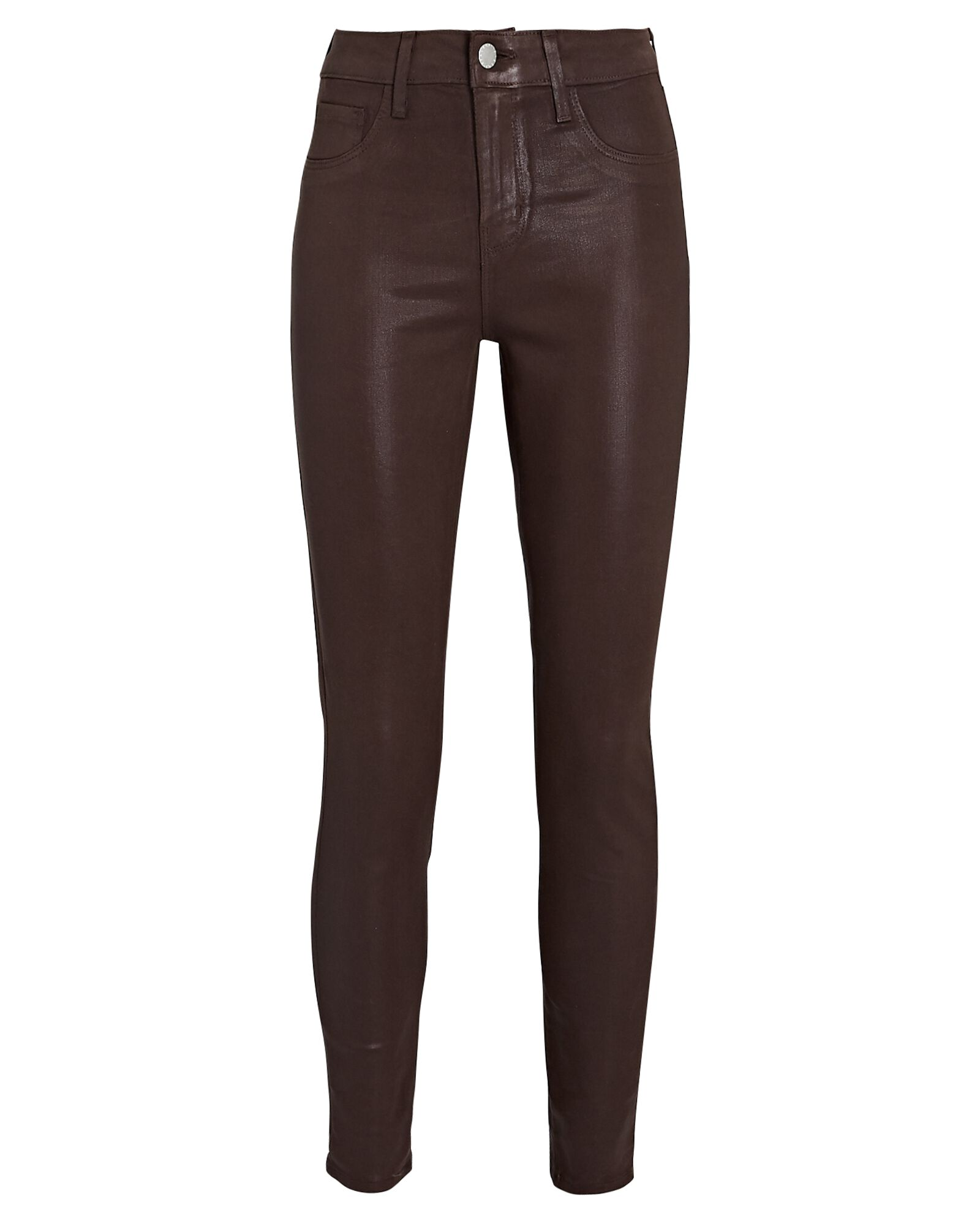Margot Coated Skinny Jeans, COCOA, hi-res