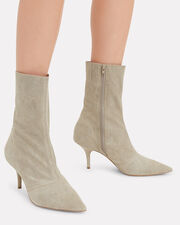 Tan Suede Booties, TAUPE, hi-res