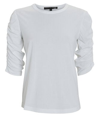 Waldorf Ruched Cotton T-Shirt, , hi-res