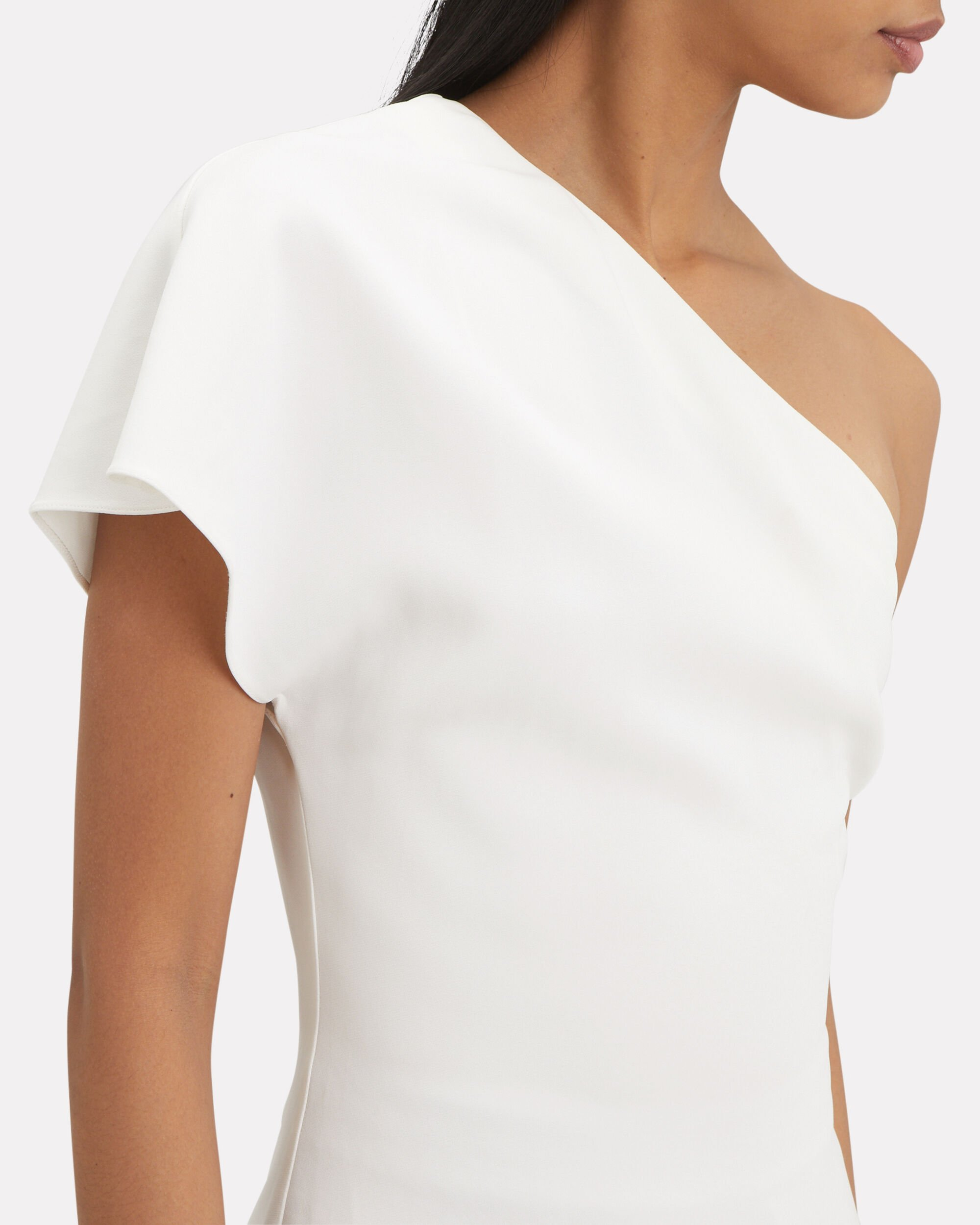 Asymmetrical Tunic, WHITE, hi-res