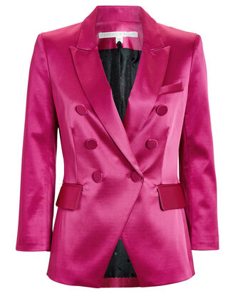 Empire Satin Dickey Blazer, PINK, hi-res