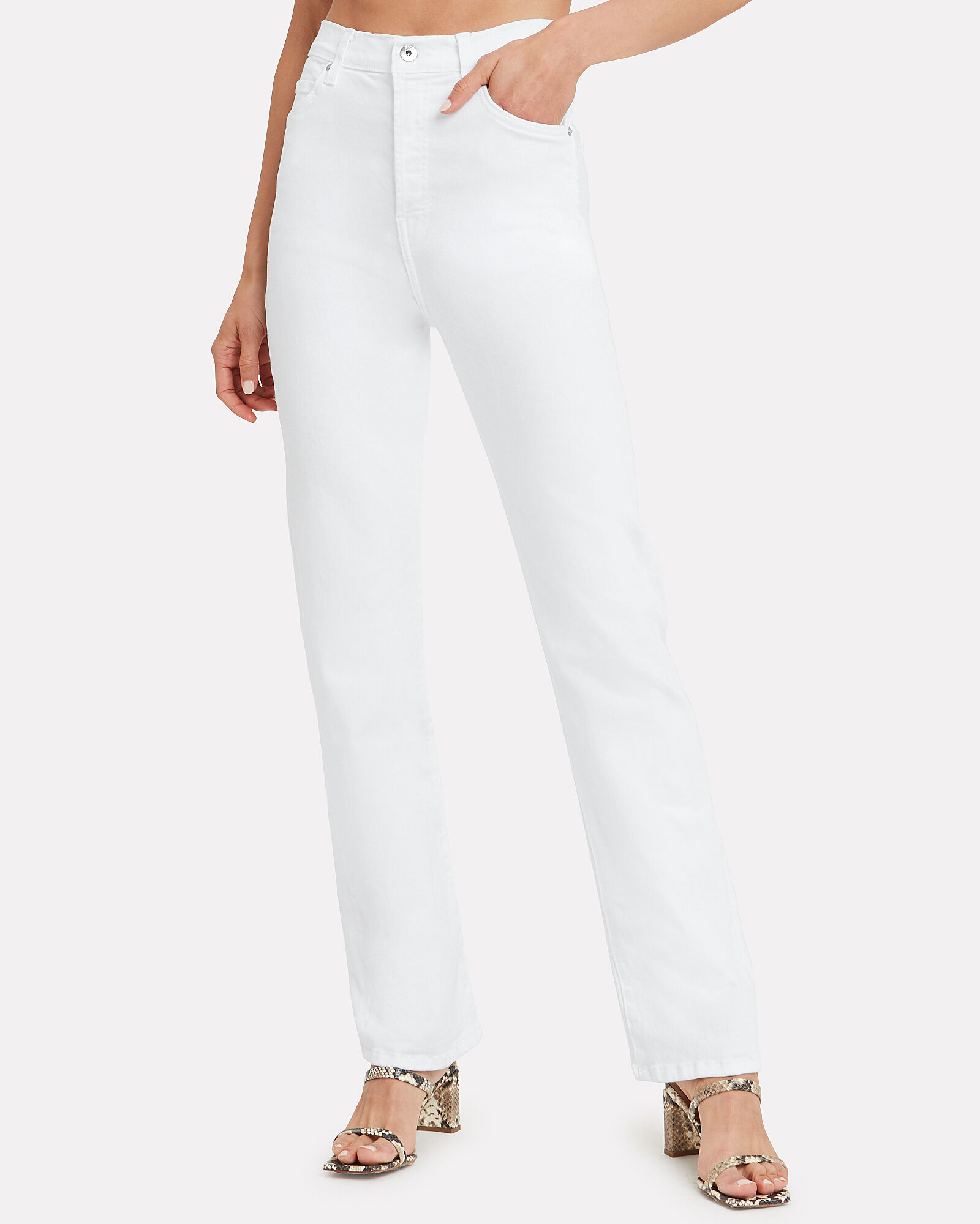 Juliette Straight Leg Jeans, WHITE, hi-res