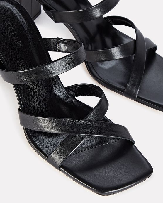 BY FAR Mid heels Lenny Leather Slide Sandals