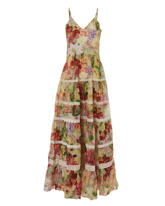 Marietta Floral Maxi Dress, MULTI, hi-res
