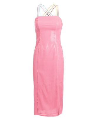 Greta Sequined Sheath Dress, PINK, hi-res