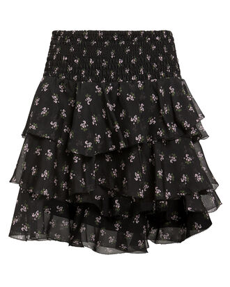 Keelan Floral Mini Skirt, BLACK FLORAL, hi-res