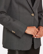 Golden Single Breasted Wool Blazer, CHARCOAL, hi-res