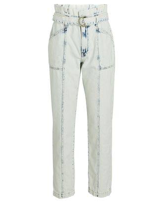 Ace Acid Wash Paperbag Jeans, ACID WASH DENIM, hi-res
