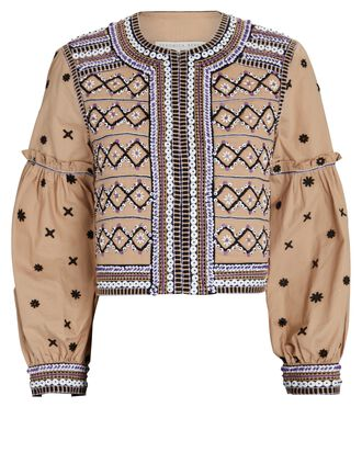 Rocci Embroidered Cotton Jacket, MULTI, hi-res