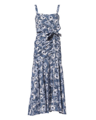 Marena Floral Dress, BLUE-MED, hi-res