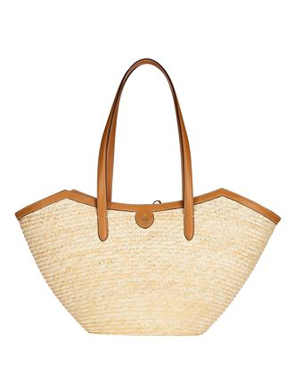 Madeline Large Straw Basket Bag, BEIGE, hi-res