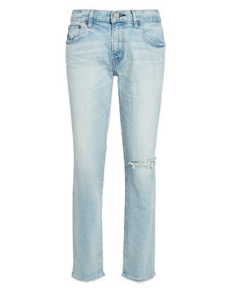 Vivian Distressed Skinny Jeans, LIGHT WASH DENIM, hi-res