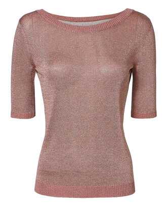 Lurex Crewneck Top, PINK, hi-res