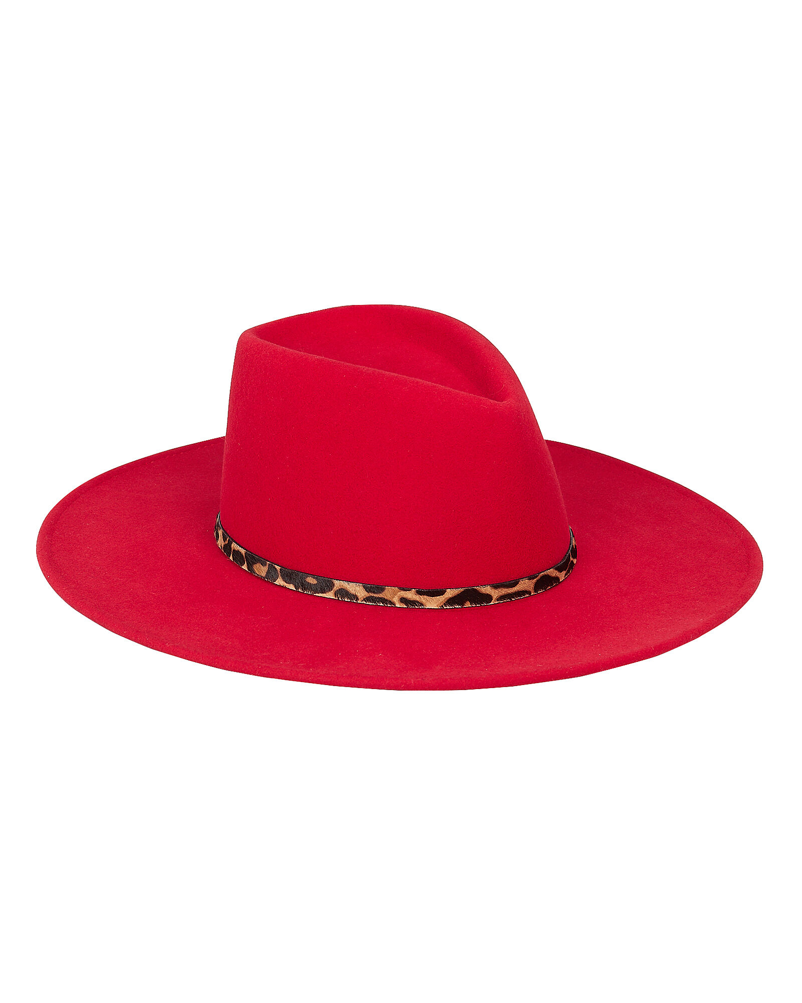 Harlowe Wool Fedora, RED, hi-res