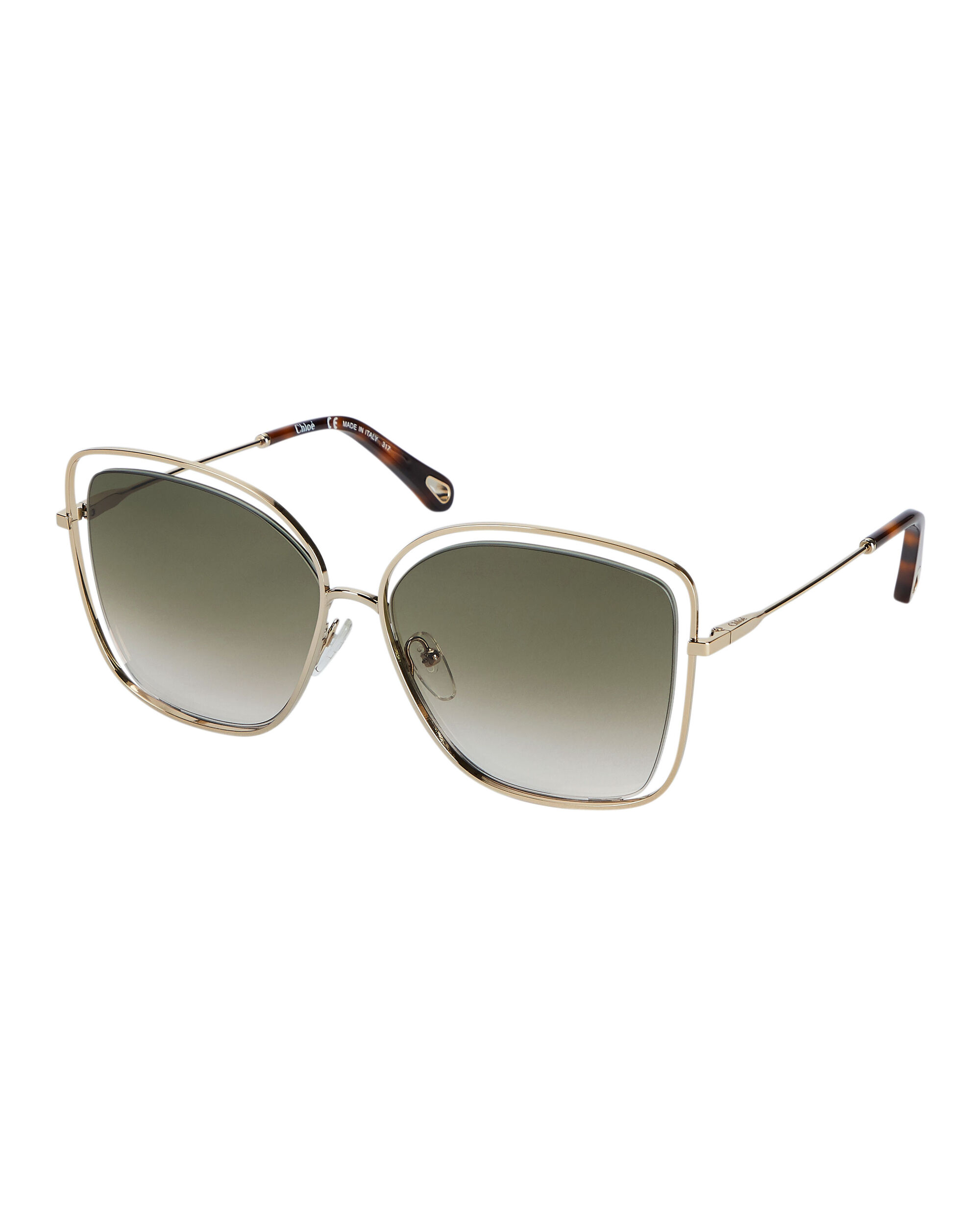 Poppy Square Sunglasses, GOLD, hi-res