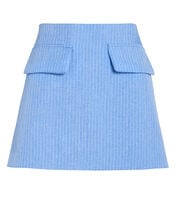 Short and Sweet Pinstripe Mini Skirt, BLUE-LT, hi-res