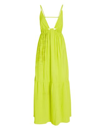 Calliope Cut-Out Midi Dress, YELLOW, hi-res