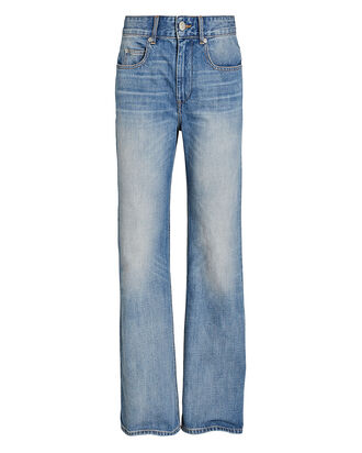 Belvira High-Rise Flared Jeans, BLUE-LT, hi-res