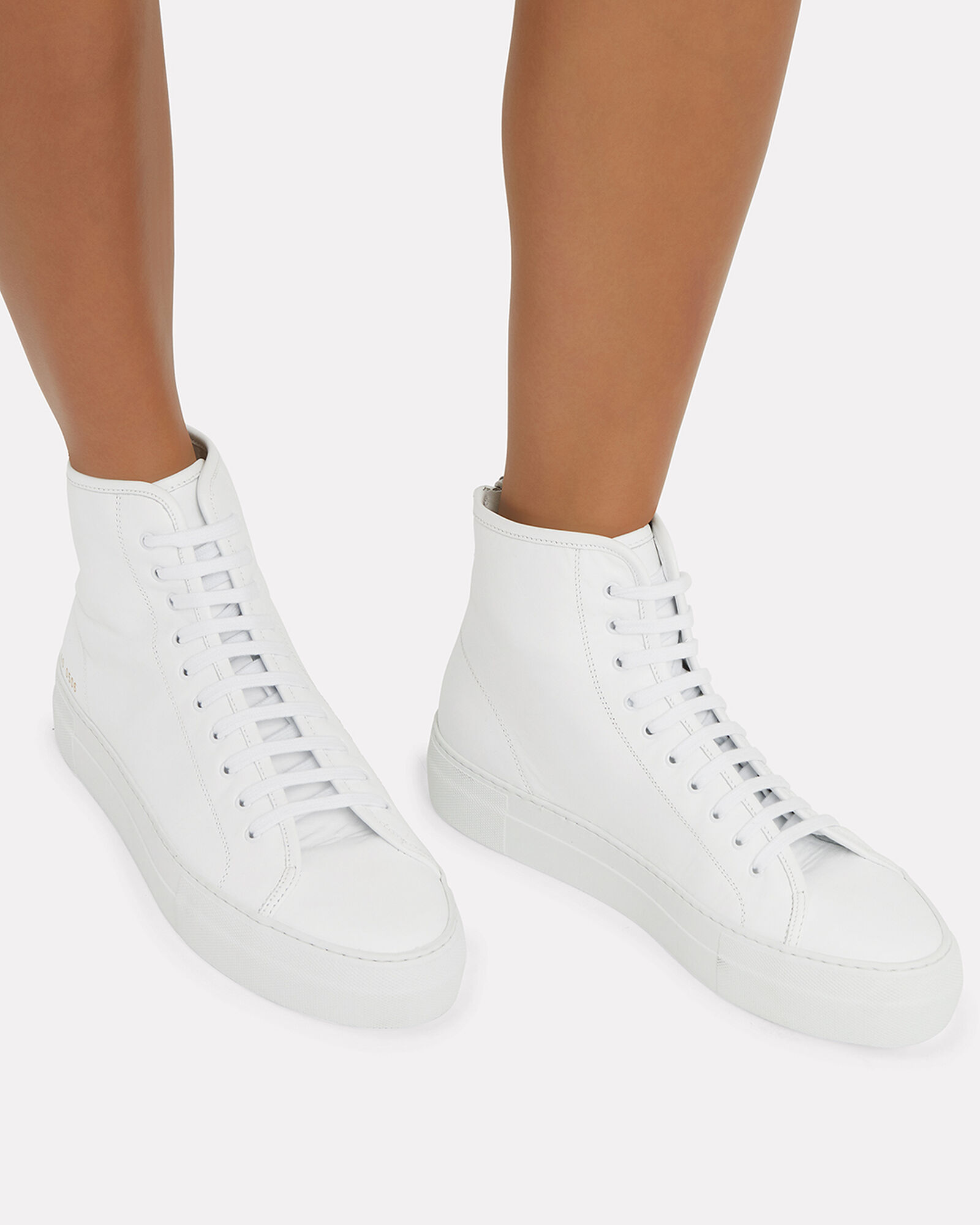 Tournament High-Top White Sneakers, WHITE, hi-res