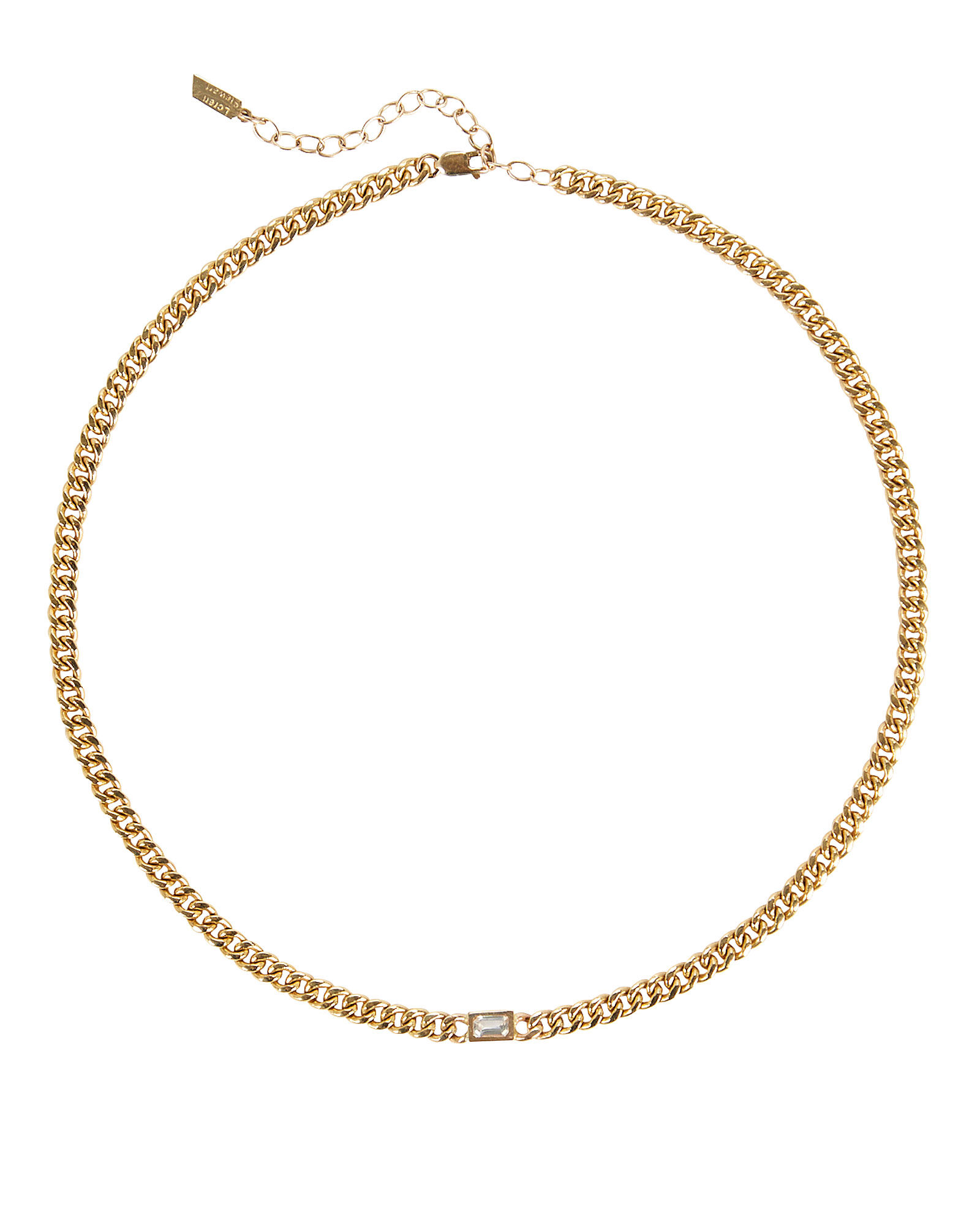 Sapphire Gold Chain Necklace, GOLD, hi-res