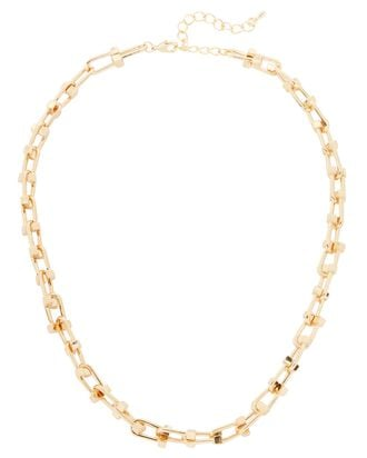 Nencia Lock Chain-Link Necklace, GOLD, hi-res