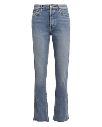 Double Needled Comfort Stretch Jeans, LIGHT BLUE DENIM, hi-res