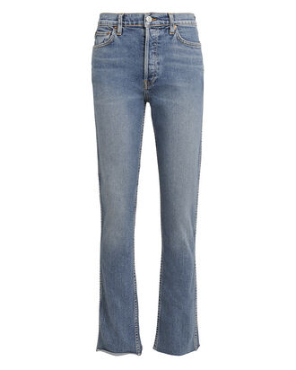 Double Needle Stretch Jeans, LIGHT BLUE DENIM, hi-res