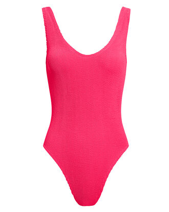 Mara One Piece Swimsuit, NEON PINK, hi-res