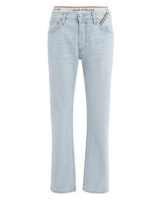 Sky Brief Jeans, LIGHT BLUE DENIM, hi-res
