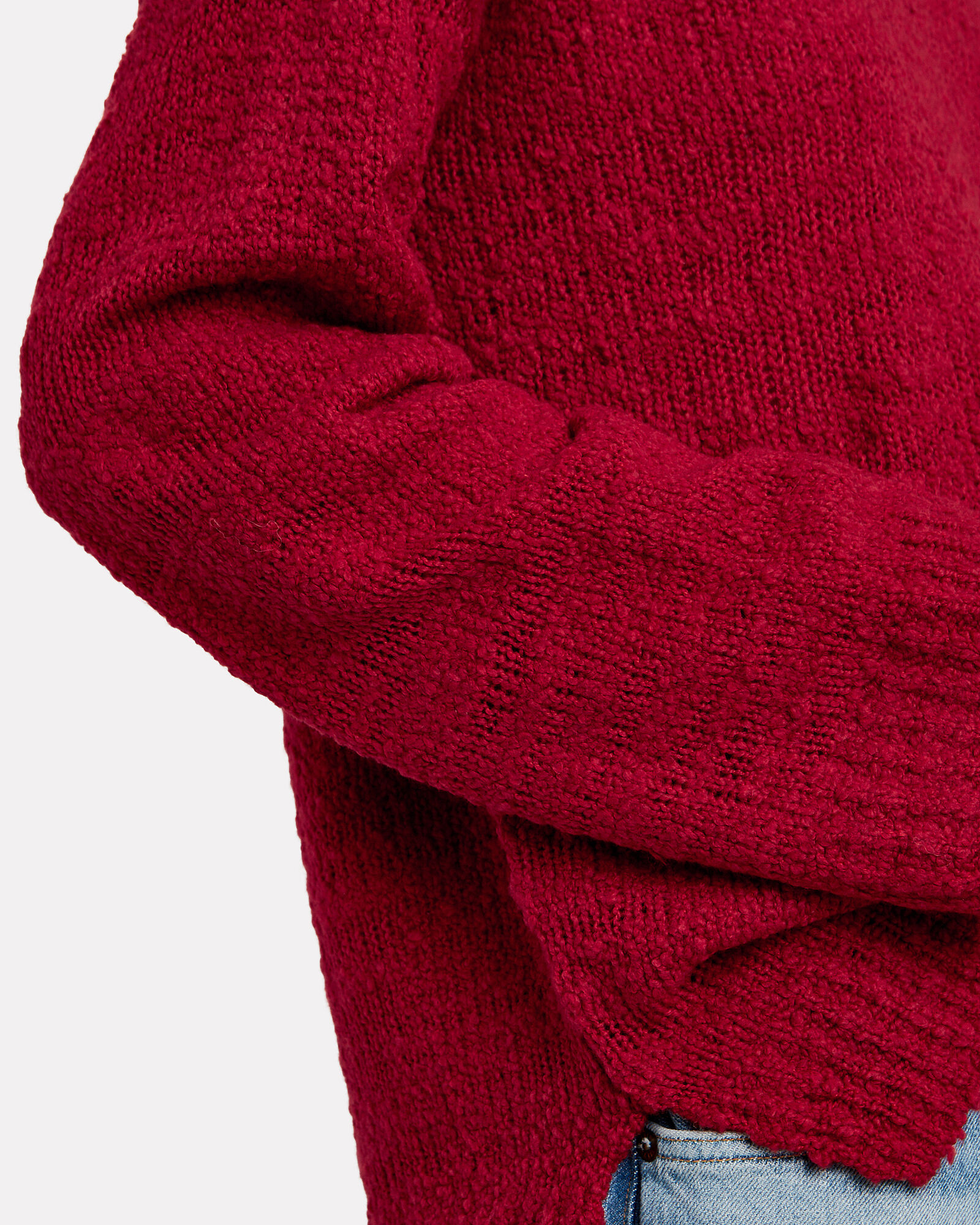 Suz Oversized Wool Sweater, RED, hi-res