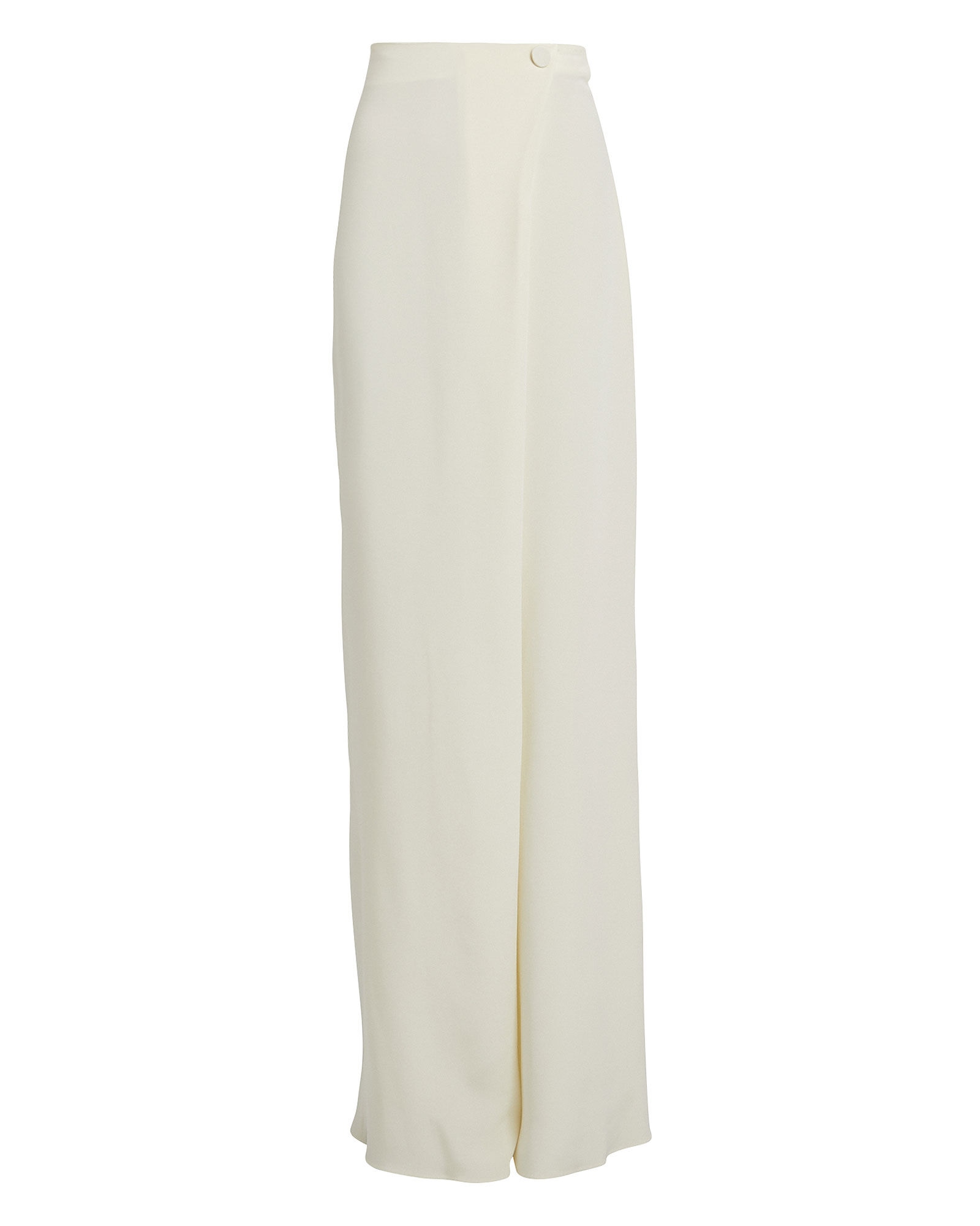 Wrap Waist Silk Trousers, IVORY, hi-res