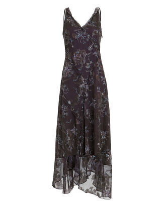 Winter Floral Jacquard Dress, MULTI, hi-res