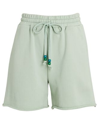 Logo Cotton Terry Sweat Shorts, LIGHT GREEN, hi-res