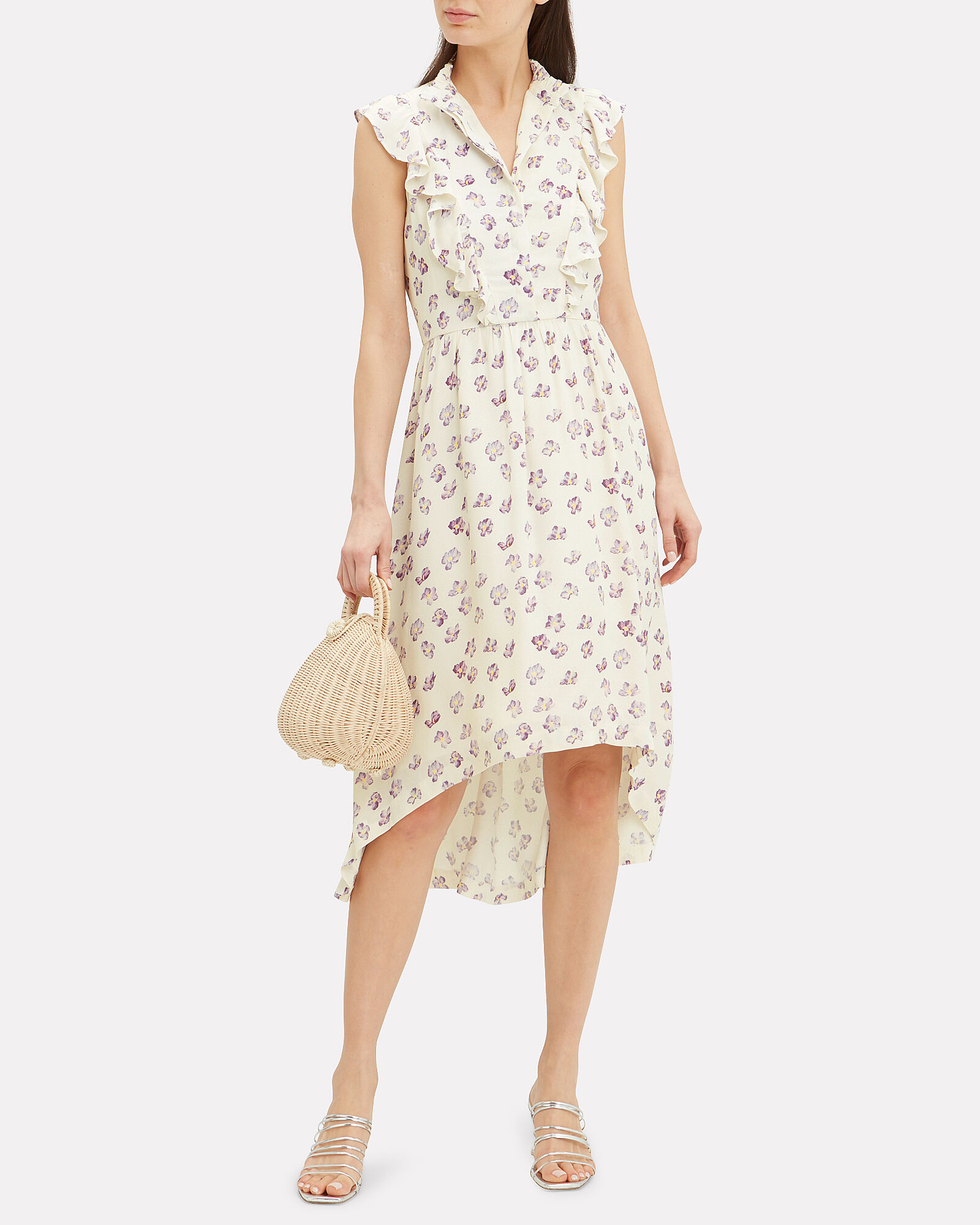 Kiara Floral Midi Dress, MULTI, hi-res