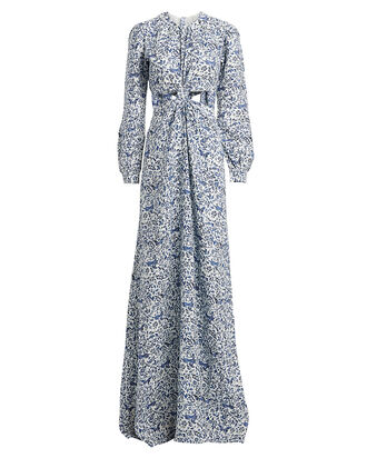 Parana Twisted Linen Dress, PAISLEY, hi-res