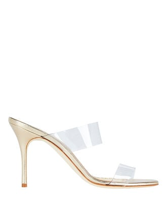 Scolto PVC Strap Sandals, GOLD, hi-res