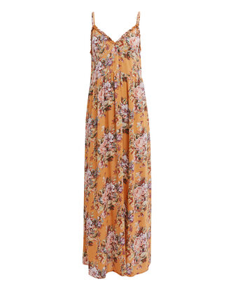 Bijoux Frill Maxi Dress, ORANGE/FLORAL, hi-res