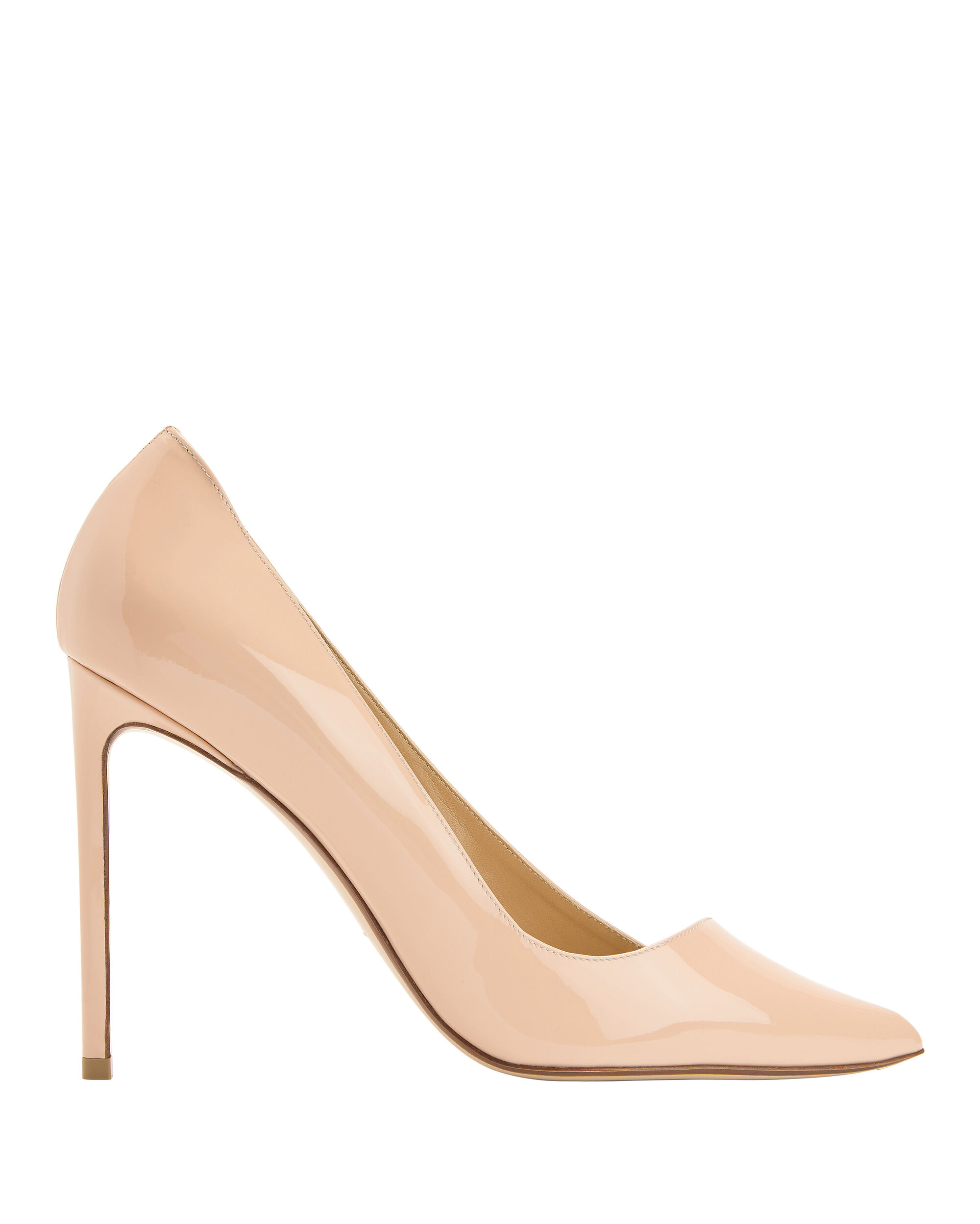 NUDE PATENT LEATHER PUMPS BEIGE